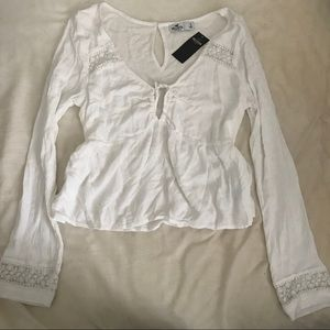 Hollister Tie-Front Babydoll Top